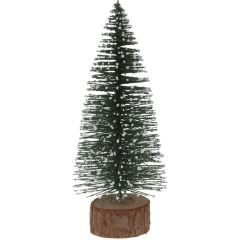 10 stuks! Kerstboompje 25cm groen sneeuw Nampook