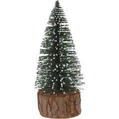 10 stuks! Kerstboompje 14cm groen sneeuw Nampook