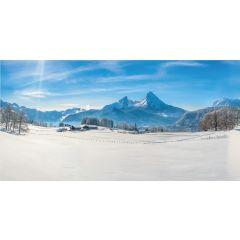 Achtergrond doek alpen 150x75 cm My Village