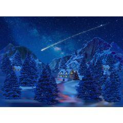 Achtergrond canvas led vallende ster 76x56 cm My Village