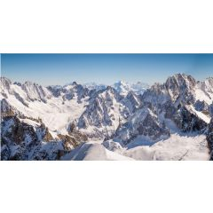 Achtergrond doek Bergtoppen XL 300 x 150 cm kersthuisje My Village