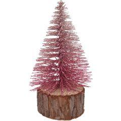 5 stuks! Kerstboom glitter 14 cm 3 assorti Nampook